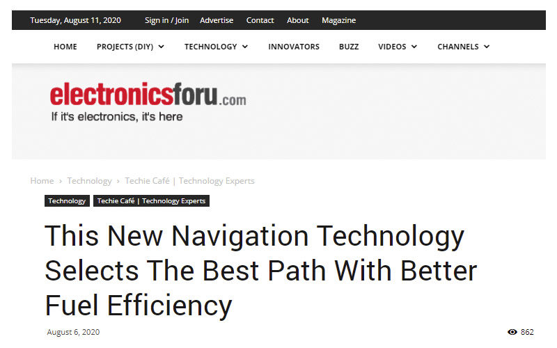 This New Navigation Technology Selects The Best Path With Better Fuel Efficiency